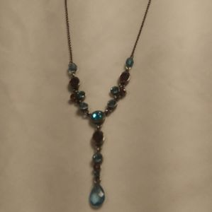 Gorgeous Crystal Cabochon Lariat Necklace